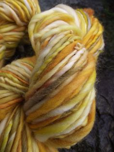 Handspun yarn, Merino handpainted yarn, bulky thick and thin multiple skeins available, -PRINCESS BUTTERCUP