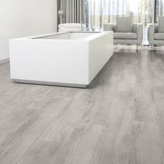 Laminate Flooring Colors Aquastep Waterproof Laminate Flooring Oak Grey V-Groove. Laminate Flooring In Kitchen, Waterproof Laminate Flooring, Laminate Flooring Colors, Grey Flooring, Flooring Options, Flooring Ideas, Light Grey Wood Floors, Modern Flooring, Laminate Floor Tiles