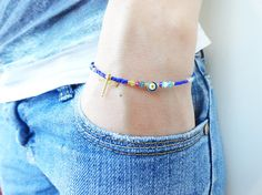 Afghan bracelet evil eye jewelry turkish istanbul by Handemadeit, $12.90