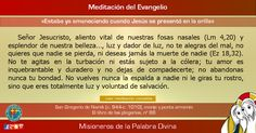 """MISIONEROS DE LA PALABRA DIVINA: MEDITACIÓN DEL EVANGELIO - """"Estaba ya amaneciendo ..."""