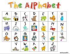 My Kindergarten Daily Schedule and a Free Alphabet Chart Kindergarten Daily Schedules, Kindergarten Lessons, Preschool Schedule, Preschool Phonics, Preschool Writing, Alphabet Charts, Alphabet Book, Summer Activities For Kids, Toddler Activities