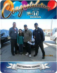 Congratulations to John Taylor and his new 2008 Honda CRV! - From Joey Lara at Patterson Honda!