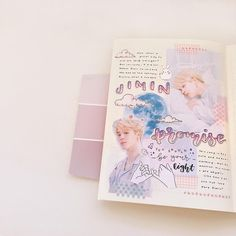 hellooo everyone! this is a collab spread with the v talented (*´ω`*) please go check her out her calligraphy is amazing and… Bullet Journal Cover Ideas, Bullet Journal Notes, Bullet Journal Aesthetic, Bullet Journal Inspiration, Scrapbook Journal, Journal Layout, Journal Pages, Journal List, Planner