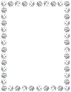 Free dice border templates including printable border paper and clip art versions. File formats include GIF, JPG, PDF, and PNG. Borders For Paper, Borders And Frames, Cube Template, Printable Border, Create Flyers, Free Printable Stationery, Border Templates, Page Borders, Frame Background