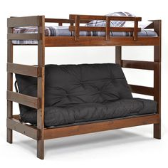 the ultimate space saver  solid wood american made and sleeps 3      full futon bunk bed    plete w  two 9   futon mattresses   eco friendly  599 u2026 the ultimate space saver  solid wood american made and sleeps 3      rh   pinterest