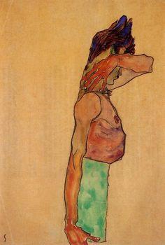 Standing Male Nude - Egon Schiele