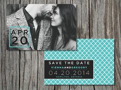 DIY printable custom photo save the date by sweetlittlesentiment, $14.00