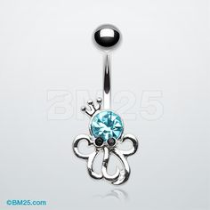 Octopus King Sparkle Belly Button Ring