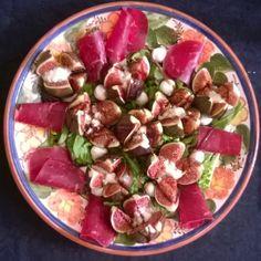 My Culinary Curriculum: Salade de figues rôties  au bleu et mascarpone et ...