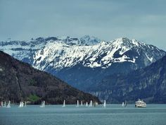 Thunersee Landscape Pictures, All Over The World, Mount Rainier, Mount Everest, Mountains, Nature, Travel, Photography, Scenery Paintings
