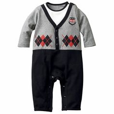 Boy's Dressy Coverall - Baby Clothes - nissen Global - online store for clothing