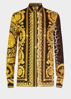 122ae718df434 Versace Wild Baroque SS 92 Print Shirt for Women Gianni Versace