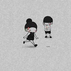 Love Drawings Couple, Love Cartoon Couple, Cute Love Cartoons, Manga Couple, Cute Love Wallpapers, Cute Girl Wallpaper, Cute Cartoon Wallpapers, Tumblr Cute Couple, Cute Couples