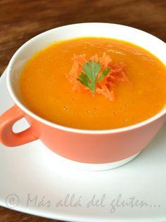 Más allá del gluten...: Crema de Zanahoria Baja en Grasa (Receta GFCFSF, Vegana)