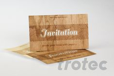 Laser cutter for paper and cardboard: Give greeting cards, invitations and packaging a special paper finish. Trotec Laser, Laser Paper, Laser Engraving, Laser Cutting, Business Cards, Create Yourself, Greeting Cards, Gift Wrapping, Diy