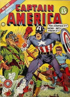 Captain America Comics # 13 by Al Avison
