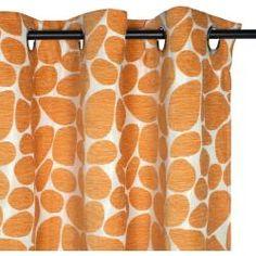 Cortinado KIESEL Laranja.  Também existem almofadas a condizer no site!