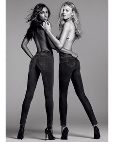 Jasmine Tookes: n love with the new Liu Jo SS17 Bottom Up Amazing Fit campaign with my girl Martha Hunt