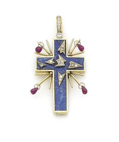 Bonhams Fine Art Auctioneers & Valuers: auctioneers of art, pictures, collectables and motor cars Cross Jewelry, Jewelry Art, Antique Jewelry, Fine Jewelry, Jewelry Design, Vintage Jewelry, Glasgow Museum, Bohemia Jewelry, Lapis Lazuli Jewelry