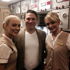 Me and the beautiful Emirates girls