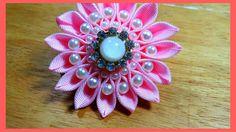 Ribbon Crafts, Fabric Crafts, Diy Crafts, Kanzashi Flowers, Headband Hairstyles, How To Make Bows, Diy Videos, Fabric Flowers, Hair Bows