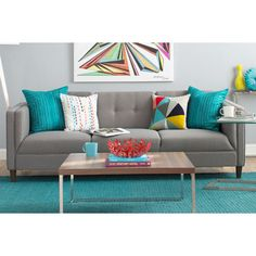 """Modern and functional sofa with a cosy feel that doesn't say, """"don't sit on me, your not cool enough."""""""