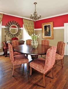 Chair Rail High up on wall. Dining Room With Chair Rail Painting Ideas Design Ideas, Pictures, Remodel, and Décor