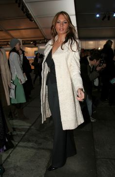 NEW YORK - FEBRUARY 10:  Model Melania Trump poses for photos in the lobby of the main tent during Olympus Fashion Week Fall 2005 at Bryant Park February 10, 2005 in New York City.  (Photo by Astrid Stawiarz/Getty Images)  via @AOL_Lifestyle Read more: http://www.aol.com/article/lifestyle/2016/11/10/melania-trump-style-/21603454/?a_dgi=aolshare_pinterest#fullscreen