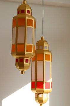 Paper Craft Moroccan Lantern