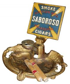 Advertising cigar cutter, Smoke Saboroso Cigars
