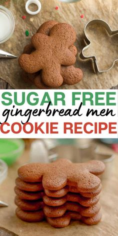 In the mood for some holiday desserts? This sugar free gingerbread men recipe will satisfy all your cravings! | healthy cookie recipes | gingerbread men cookies | sugar free cookies | holiday cookie recipes | low carb cookie recipes #sugarfree #gingerbread #holidaycookie #healthydesserts