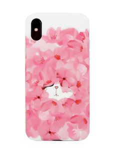 Woman Pink Flower Sea Cute Cat TPU Soft Shell Phone Case For iPhone is best and cool on Newchic. Cute Cases, Cute Phone Cases, Phone Case Store, Iphone Cases For Girls, Mobile Covers, Phone Covers, Couple Gifts, Flower Prints, Boyfriend Gifts