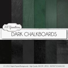 Chalkboard digital paper DARK CHALKBOARDS real by Artfanaticus  My backgrounds, textures, digital paper and clip art can be used for just about any project. Add some additional artistic style to your photo albums, photography projects, photographs, scrap booking, weddings, invitations, greeting cards, gift wrap, labels, stickers, tags, signs, business cards, websites, blogs, parties, events, jewelry & more.  For more digital papers, please visit Artfanaticus at:  http://artfanaticus.etsy.com