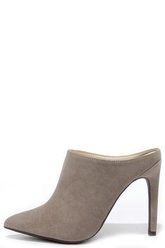 Nice Profile Taupe Suede Pointed Mules at Lulus.com!