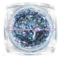Blue Big Glitter UV Gel
