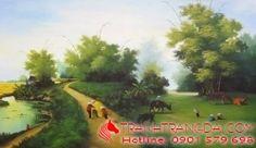 Tranh sơn dầu cuộc sống ở miền quê