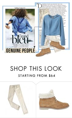 """""""Blue Top Genuine People"""" by gabygirafe ❤ liked on Polyvore featuring Balmain, Levi's, Lipsy, women's clothing, women's fashion, women, female, woman, misses and juniors"""