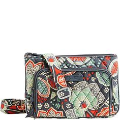 Vera Bradley Women s Little Hipster Nomadic Floral Cross ... Quilted Bag 8a58206b2c735