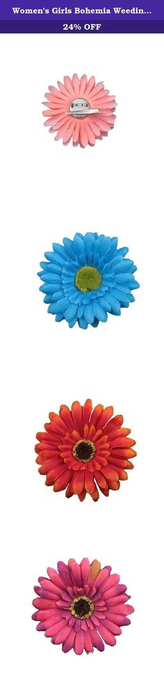 Women's Girls Bohemia Weeding Bride Sun Flowers Hair Clips Hairpin Corsage Headwear Beach Barrettes head flower headdress (10pcs mixed color WTB-2043). We are a professional fashion decorations manufacturer established in 2012, we have professional designer team and over 2000 square meters of production workshop. We are focus on developing fashion, unique,Luxury,comfortable hair accessories for babies, girls and ladies. We always try the best to providing high-quality productions and...