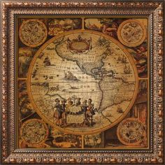 Antique Map, Cartographica II Framed Art Print at Art.com