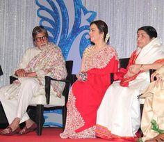 Amitabh Bachchan, Nita Ambani & Sridevi @ Lata Mangeshkar's Music Label Launch