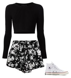 """""""Hi"""" by sydnigrace on Polyvore featuring Chicnova Fashion, Cushnie Et Ochs and Converse"""