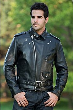 Men's Perfecto Cowhide Leather Motorcycle Jacket | Overland