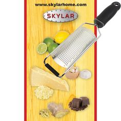 Cheese grater, spice grater & lemon zester. Super high quality and very versatile kitchen tool, a must for all cooks. Comes with recipe eBook. Order yours today by clicking on image!