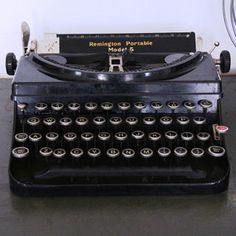 Antique Remington Typewriter now featured on Fab.