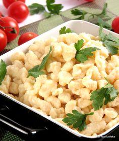 Smaczna Pyza: Kluseczki na maślance Polish Recipes, Polish Food, Nigella, Dumplings, Risotto, Cauliflower, Macaroni And Cheese, Noodles, Tasty
