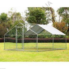 Chicken Run Coop Large 4M X 3M Pet Enclosure Rabbit Duck Cage Walk-in Dog Kennel