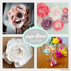 Pretty Paper Flower Tutorials