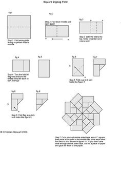Free Teabag folding instructions