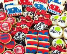 Hotty Toddy!  Ole Miss cookies for grad party.
